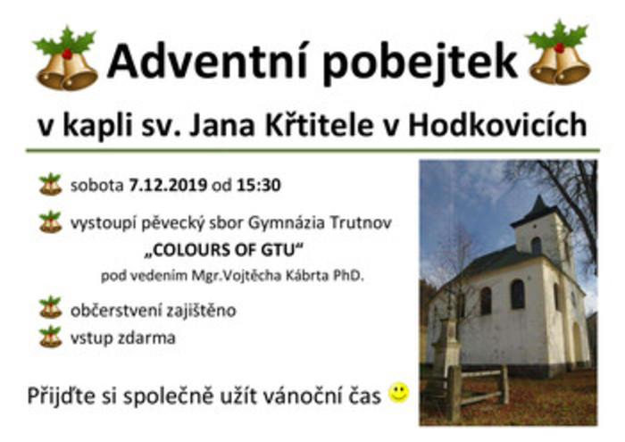 Adventní pobejtek v Hodkovické kapli